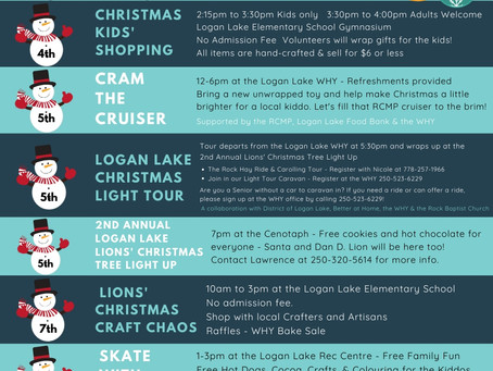Logan Lake Community Events December 2019