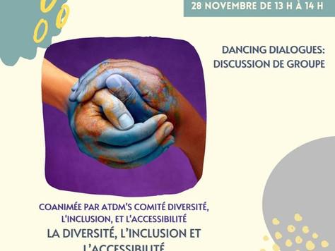 (FR) Dialogues de danse : Discussion de groupe sur la diversité, l'inclusion et l'accessibilité