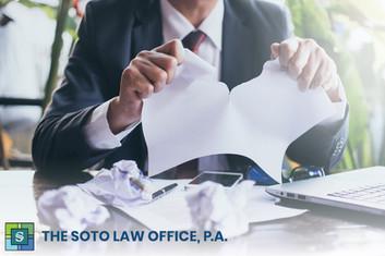 Acciones y recursos legales en caso de producirse un incumplimiento contractual en Florida