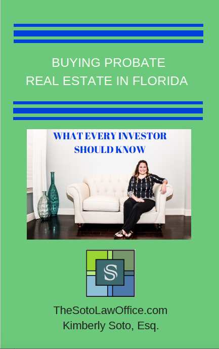 Buying Probate Real Estate e-book cover