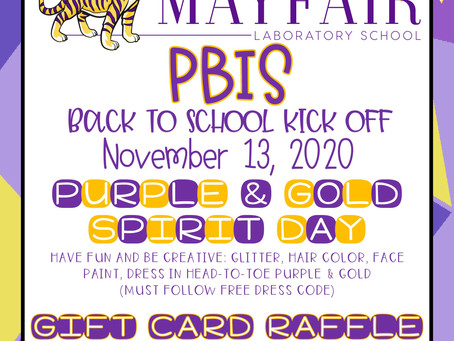 PBIS Back to School Kickoff - November 13