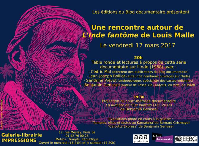 """Table ronde + lectures autour de """"L'Inde fantôme"""" de Louis Malle"""