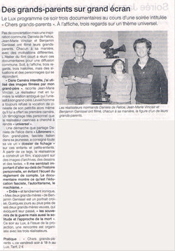 article Ouest France 2008
