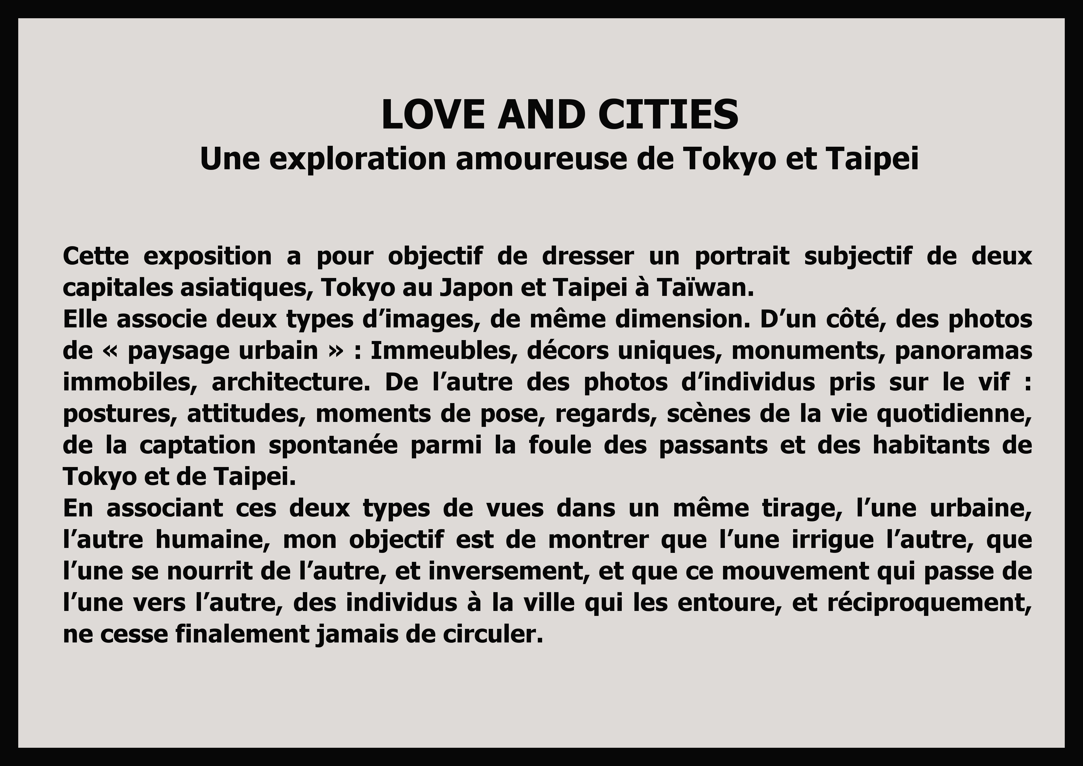 texte Love and cities