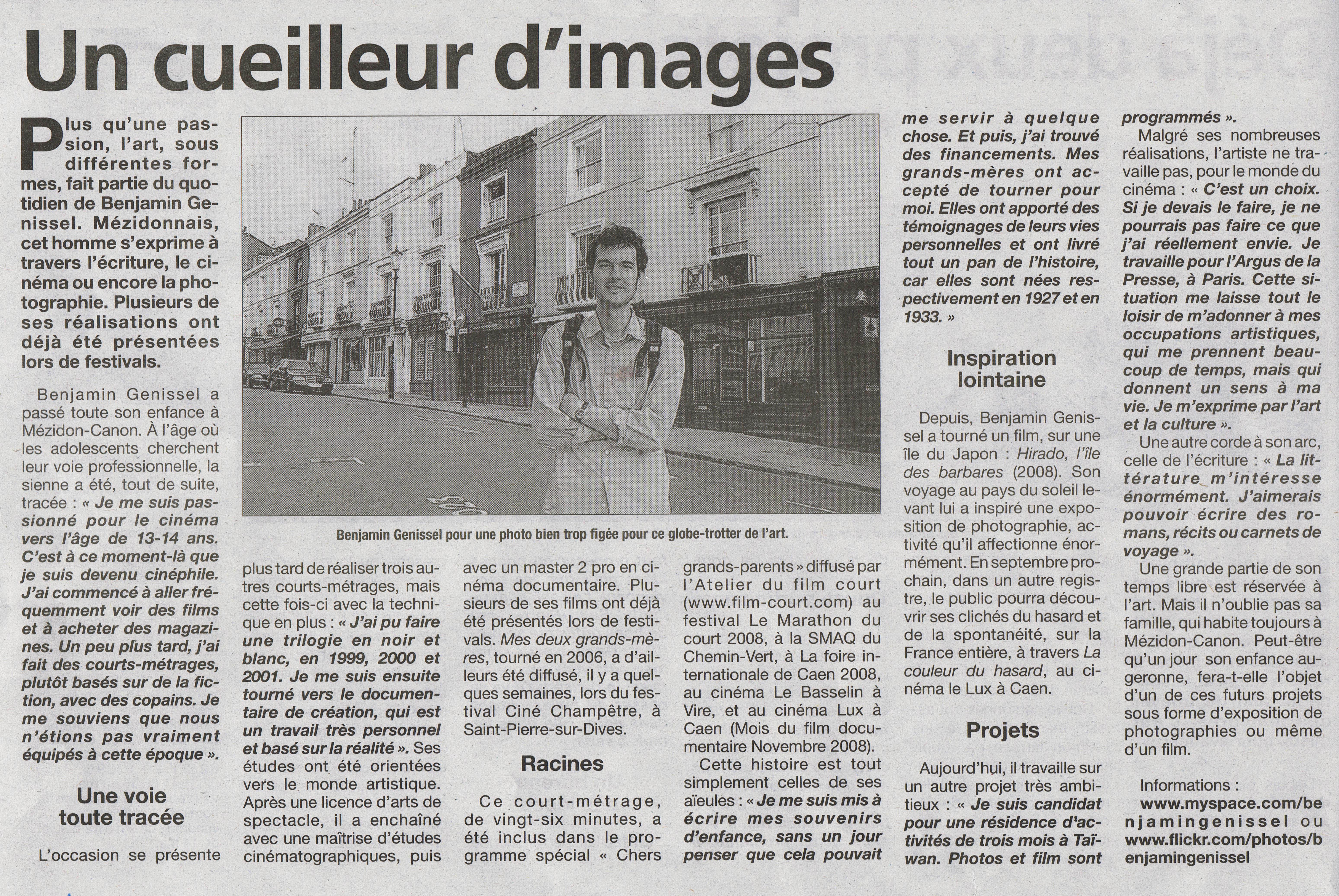 article l'Eveil 2009