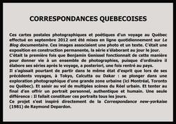 Correspondances québécoises