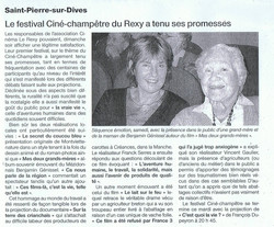 article Ouest France 2009