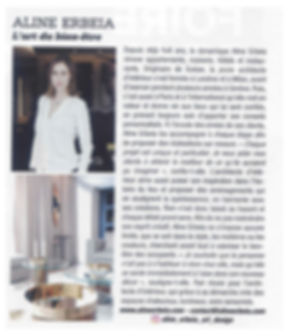 elle decoration, Article de presse concernant Aline Erbeia dans le ELLE DECO, architecture d'interieur, décoration, genève, paris