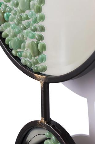 Miroir orné d'Aventurines vertes