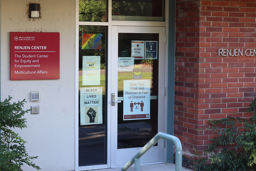 door outside the Renjen Center