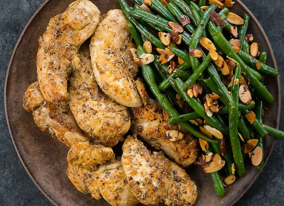 Chicken & Green Beans Almondine