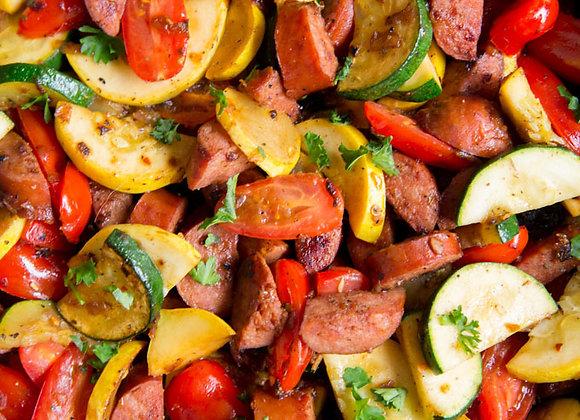 Chicken Sausage & Veggies