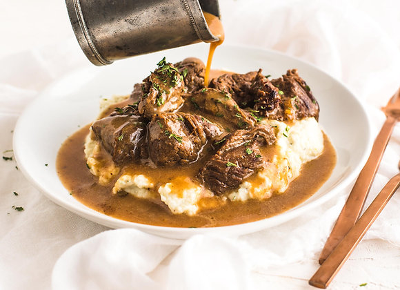 Beef Tips w/ Cauliflower Mash
