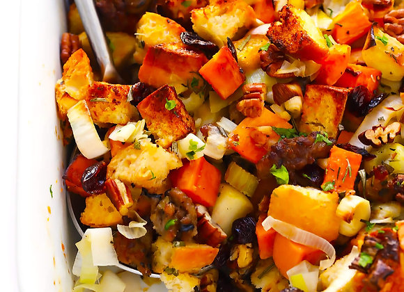 Sausage, Apple, & Sweet Potato Scramble