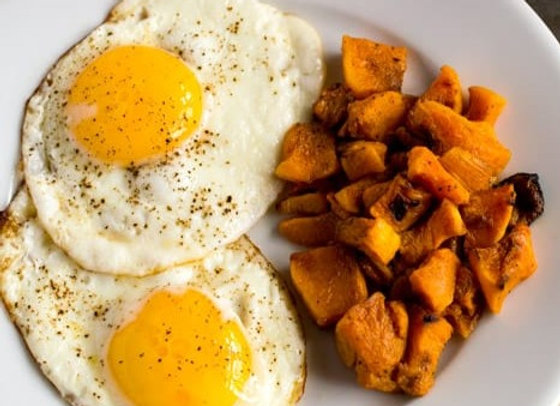 Roasted Butternut Squash w/ Fried Egg