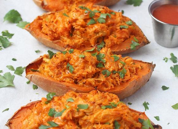 Buffalo Chicken Sweet Potato