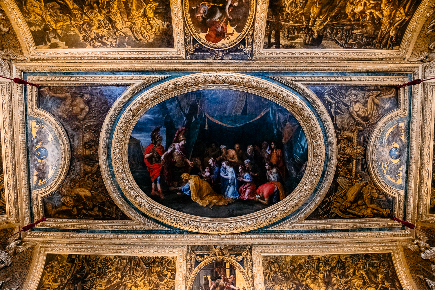 Modest ceiling at Versailles