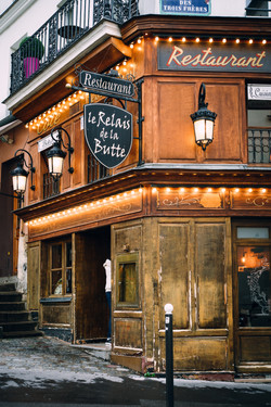 Typical Parisian cafe