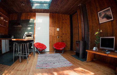 Sala de estar Casa P Surf Lodge Posada Punta de Lobos