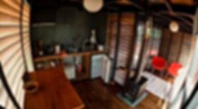 Cocina Casa T Surf Lodge Posada Punta de Lobos