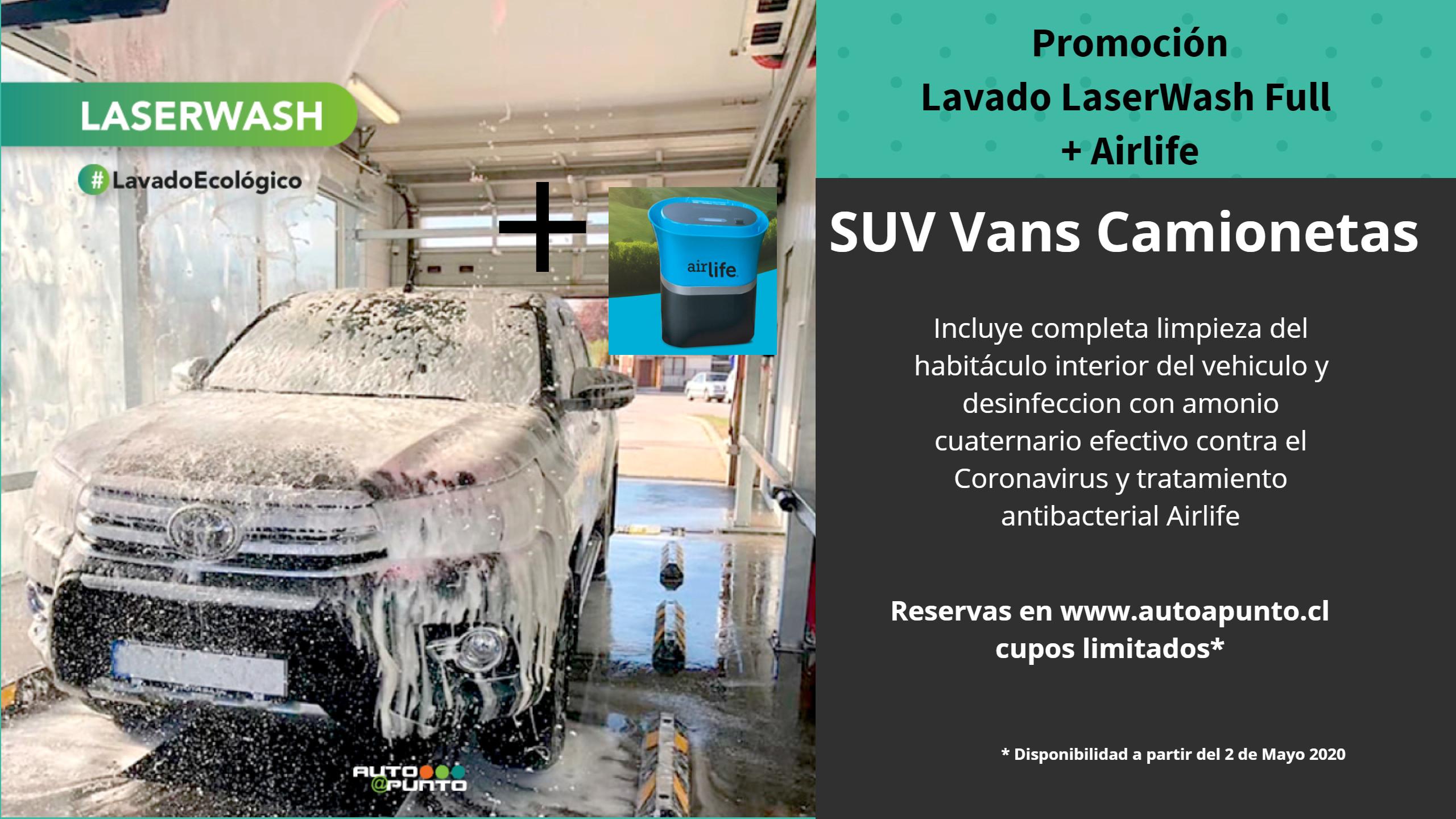 Promoción Laser Wash + Ozono  SUV VANS