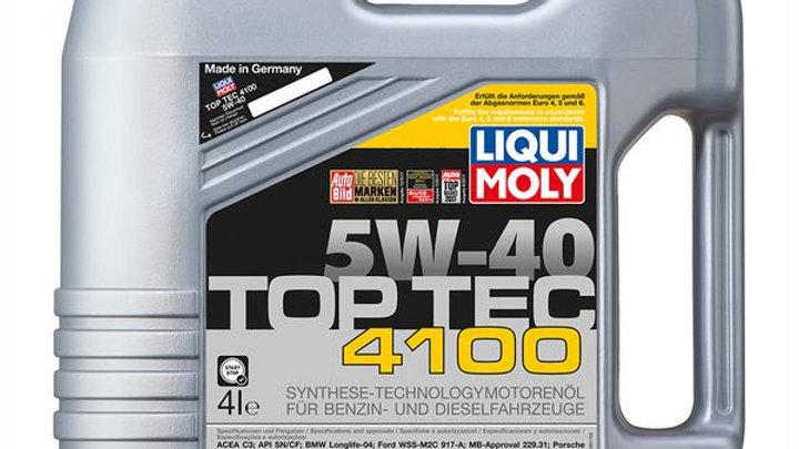 LIQUI MOLY ACEITE SINT. TOP TEC 4100 5W40 4 LITROS