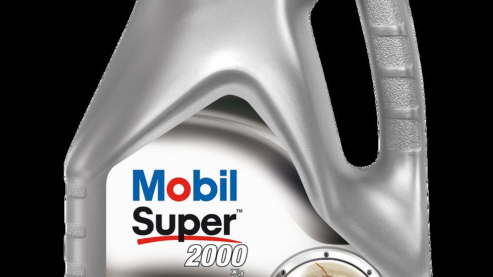 MOBIL SUPER 2000 10W40 X3  4 LITROS