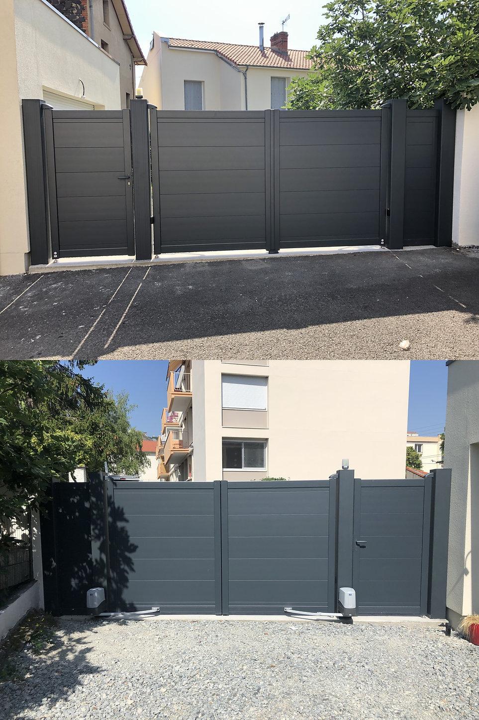 Portillon, Portail 2 vantaux motorisé & clôture Aluminium Chamaliéres 63400