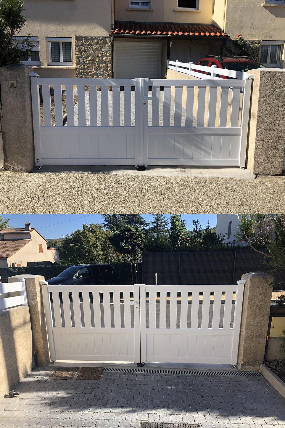 Portail 2 vantaux Aluminium  Beaumont 63110