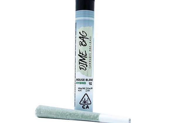 1g Kush Mintz Preroll- Dime Bag 23% THC