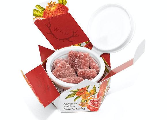 WYLD Pomegranate Gummies 100mg CBD/ 100mg THC