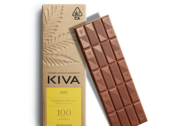 Kiva Churro Milk Chocolate 100mg THC