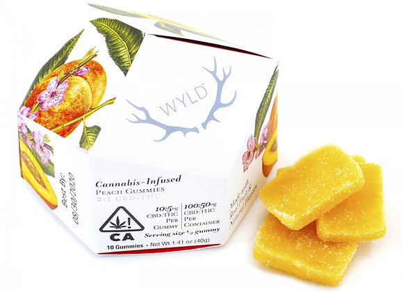 WYLD PEACH Gummies 100mg CBD/ 50mg THC
