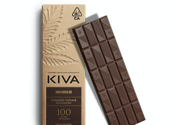 Kiva Dark Chocolate 100mg THC