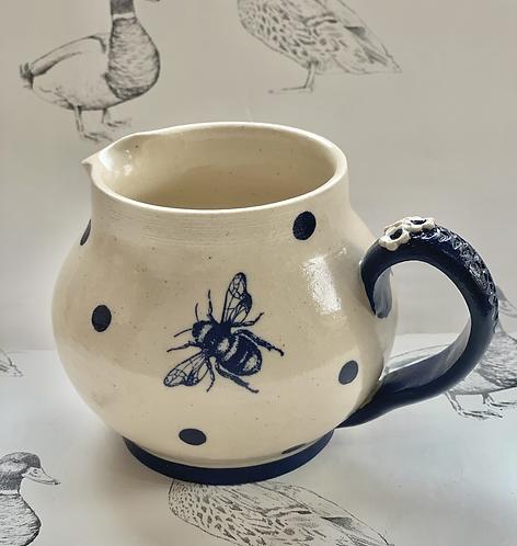 Bumblebee and navy spot jug