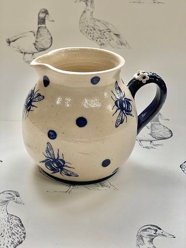 Bumblebee and navy spot jug