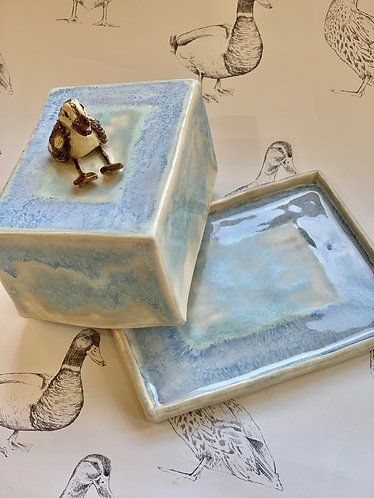 Duckling butter dish