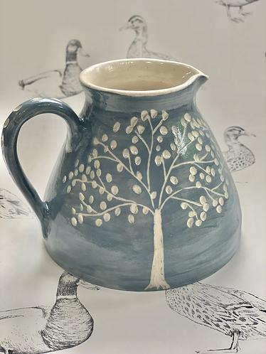 Blue Grey Tree jug