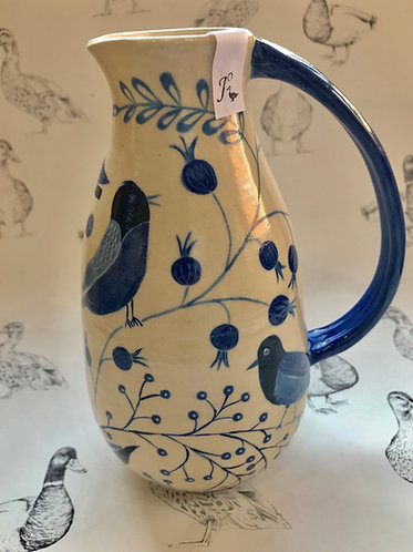 Birds and Berries tall jug