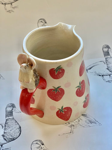 Mouse and strawberries jug