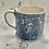 Thumbnail: Navy folky chicken mug