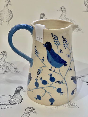 Birds and berries jug
