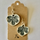 Thumbnail: Ceramic leaf sterling silver earrings
