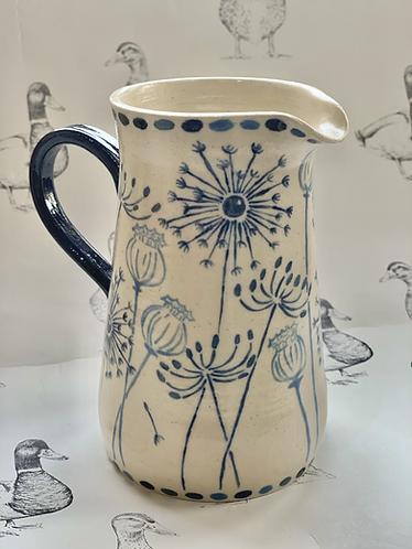 Dandelion and poppy head jug