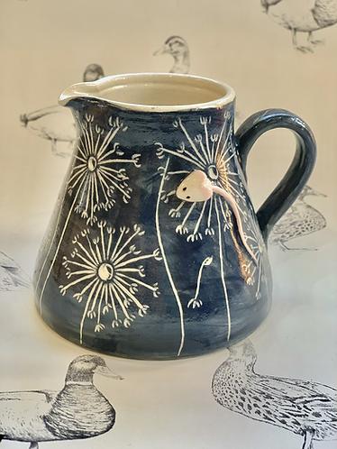 Dark grey/navy dandelion mousie jug