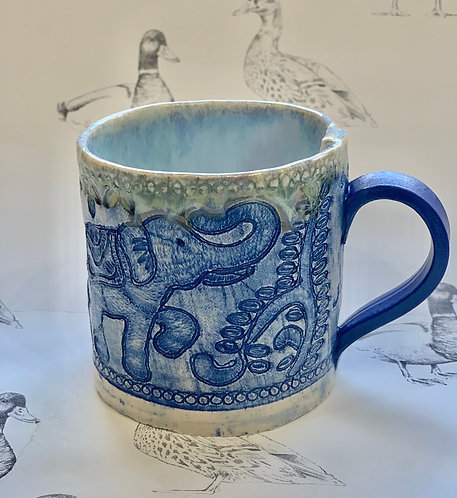 Indian elephant braid mug