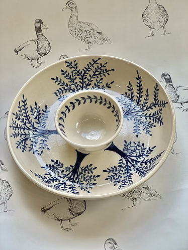 Chip and dip olive tree bowl