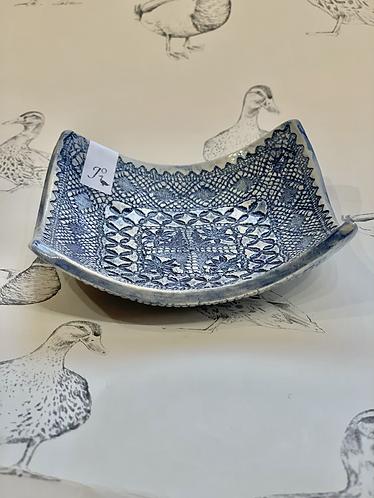 Antique lace dish