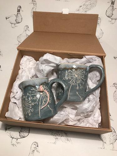 Milk jug and expresso mug gift set