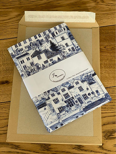 Bespoke English village houses wrapping paper